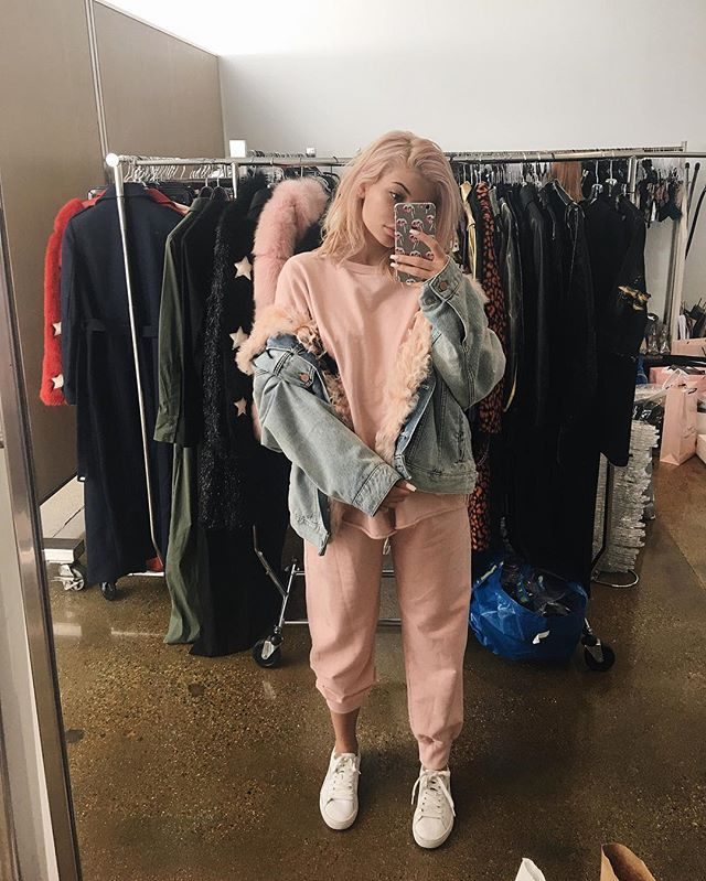 Kylie Jenner in pink on pink