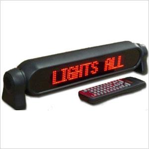 LED car sign