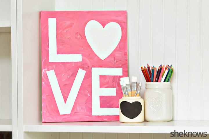 DIY Valentine's Day art