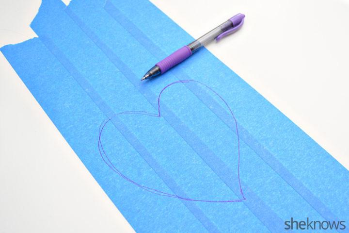 DIY Valentine's Day art step 1