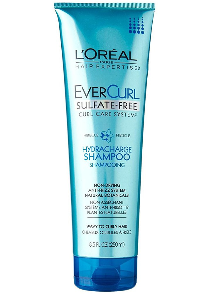 Best Shampoos That Actually Smooth Frizzy, Curly Hair: L'Oréal EverCurl HydraCharge Shampoo | Summer Hair Care 2017