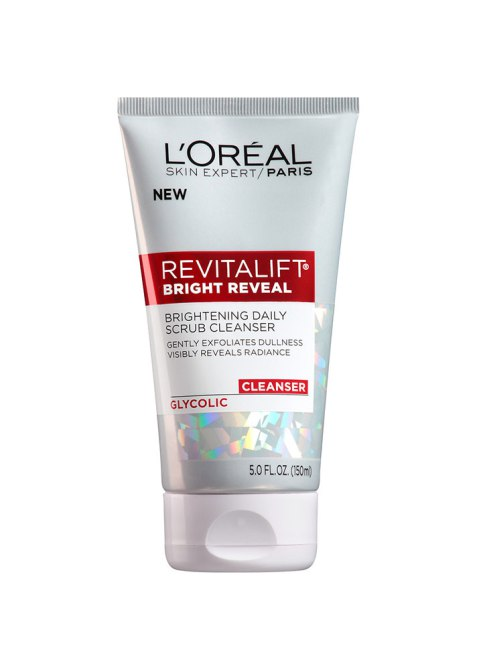 skin care Ingredients That Work Together: L'Oreal Paris Revitalift Bright Reveal Brightening Daily Scrub Cleanser