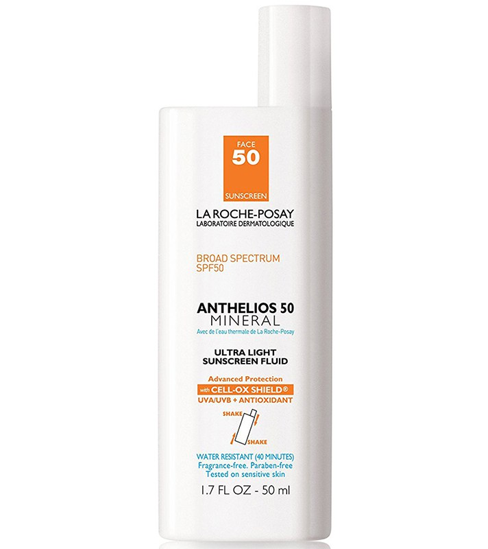 Best Non-Greasy, Non-Shiny Sunscreens for Oily Skin: La Roche-Posay Anthelios 50 Mineral Ultra Light Sunscreen Fluid | Summer Skincare