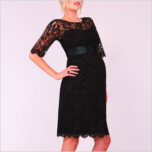 Lace cocktail maternity dress
