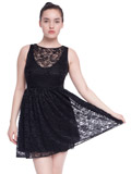 lacey black American Apparel dress