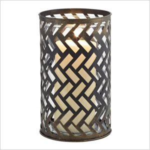 bronze pillar candle holder