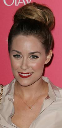 Lauren Conrad's chignon hairstyle