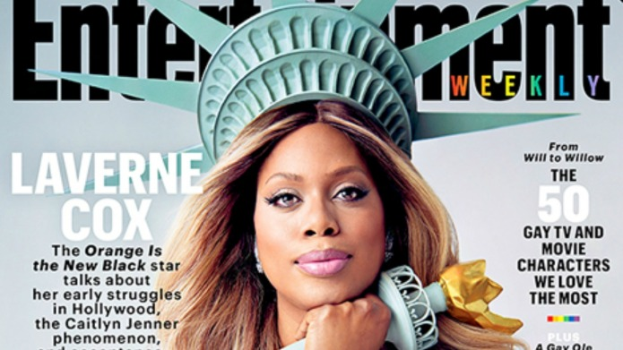 Laverne Cox sends powerful message dressed