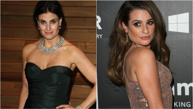 Lea Michele and Idina Menzel