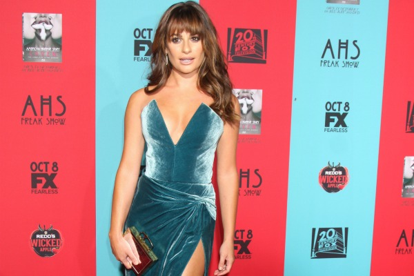 Lea Michele and the plunging neckline trend