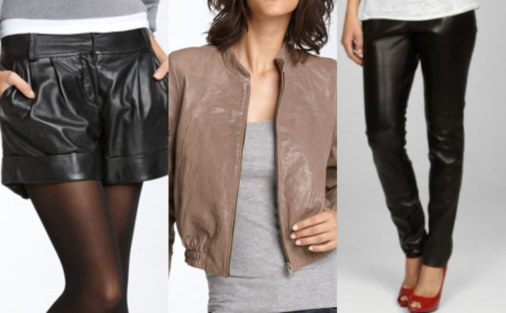 leather trend fashions shorts pants jacket