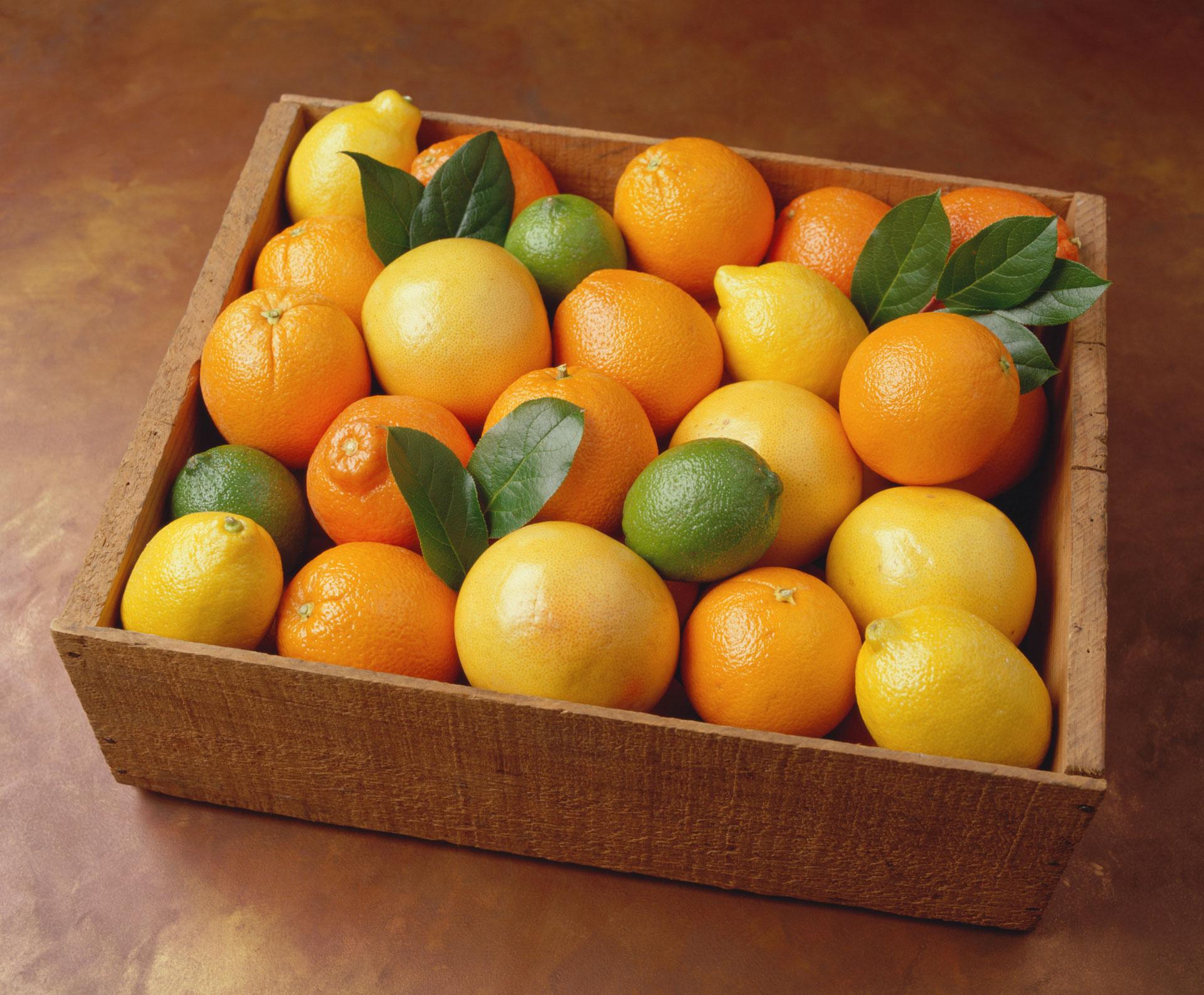 Citrus: Lemon, lime and oranges