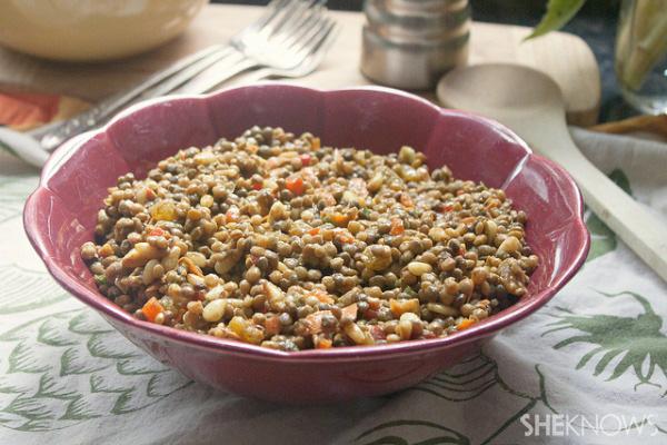 Curried lentil salad recipe