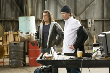 Leverage main guys - Timothy Hutton and Christian Kane