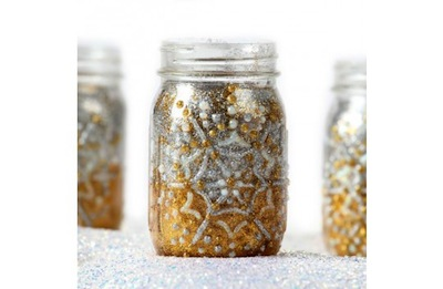 Light Up the Night glitter jars