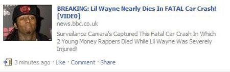 Lil Wayne car accident