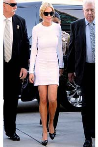 Lindsay Lohan white court dress sells out