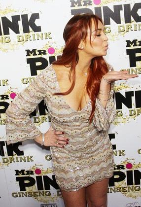 Lindsay Lohan at Mr. Pink