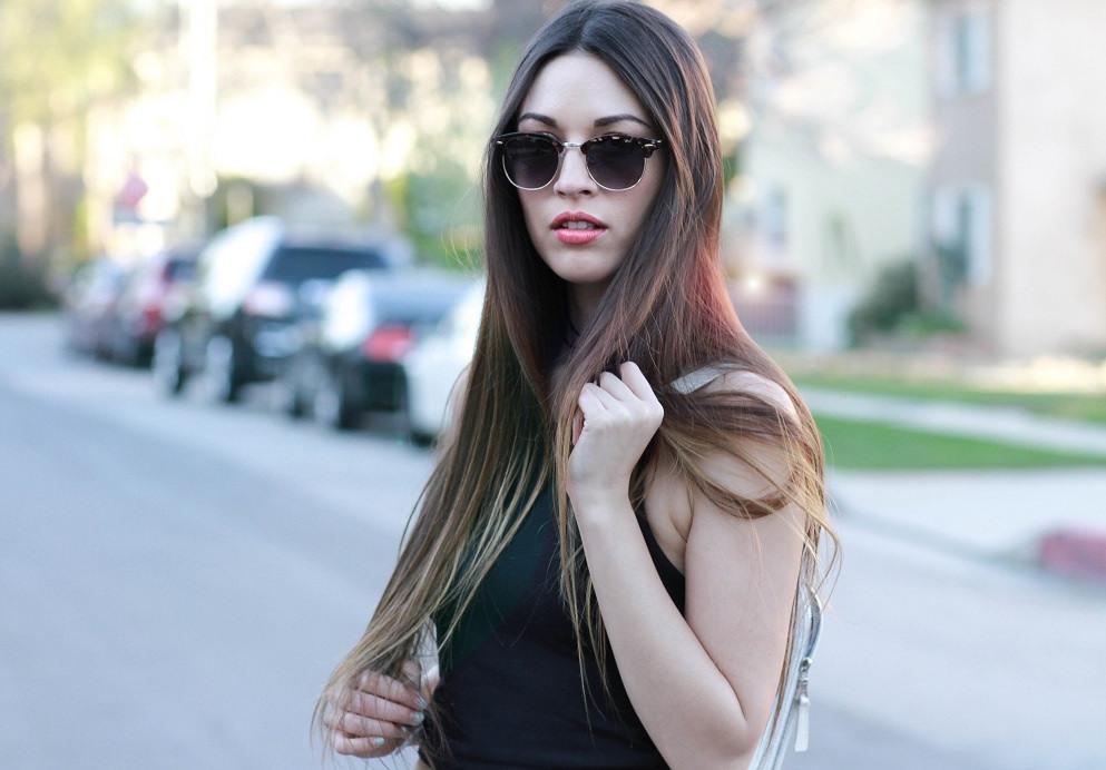 Long, straight hair