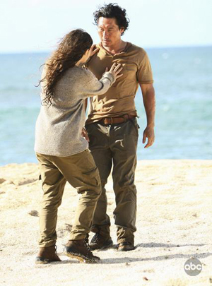 On Lost, Hurley and Jin have words