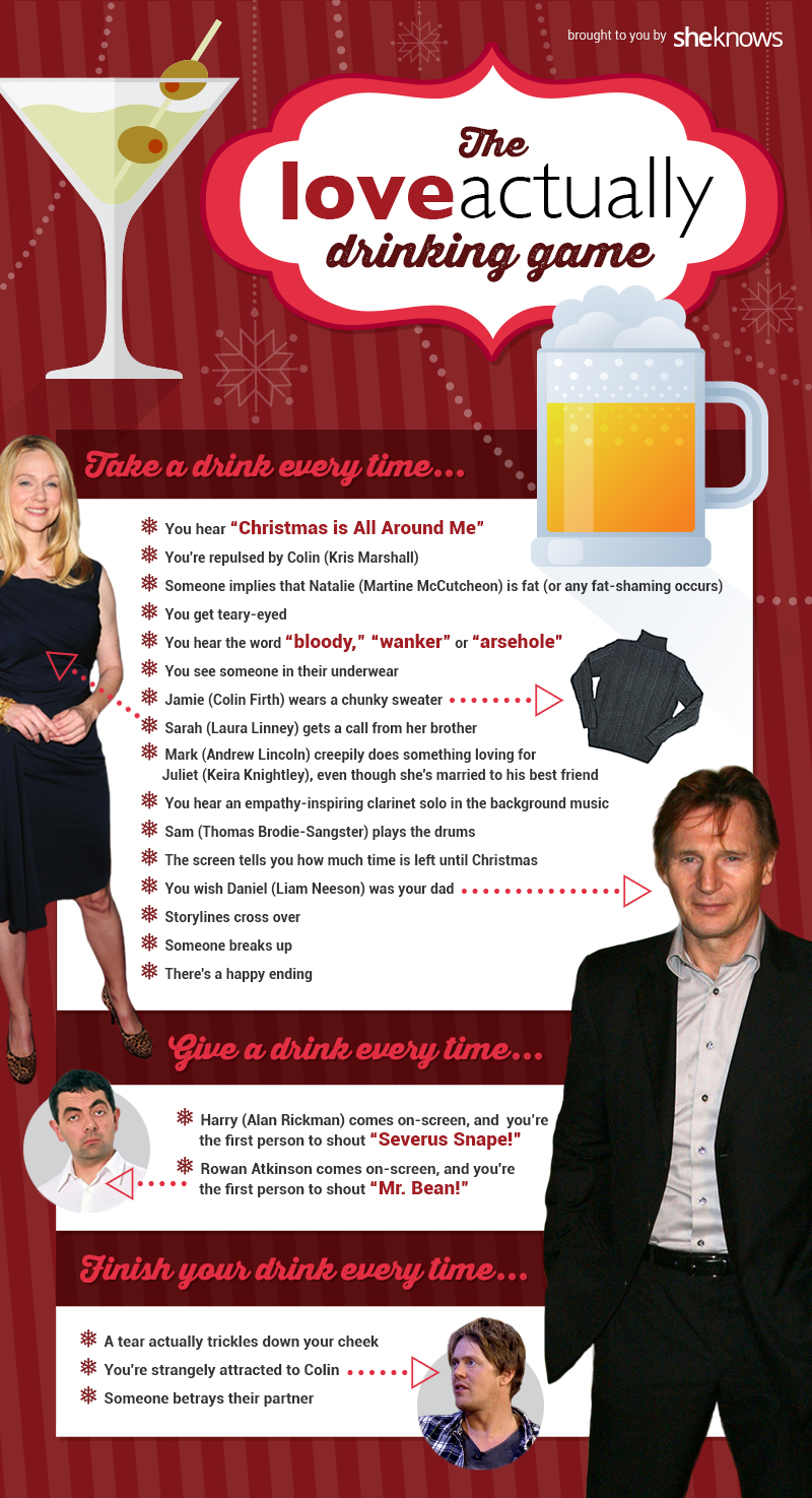 Love Actually drinking game