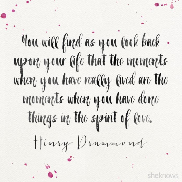 Henry Drummond romantic love quote