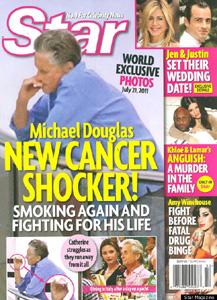 Michael Douglas smoking again