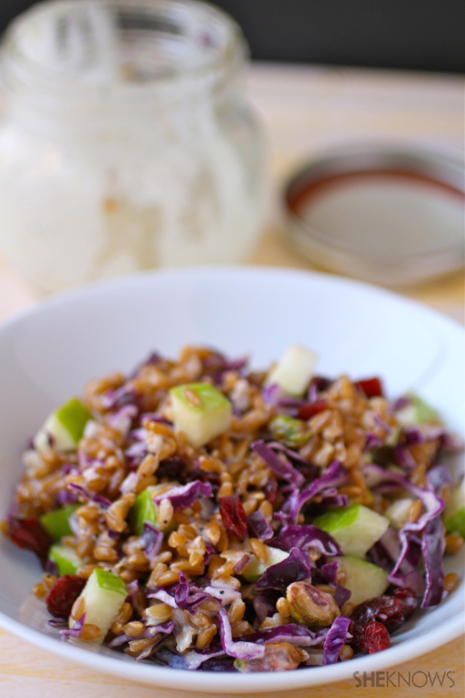 Mason jar cabbage salad