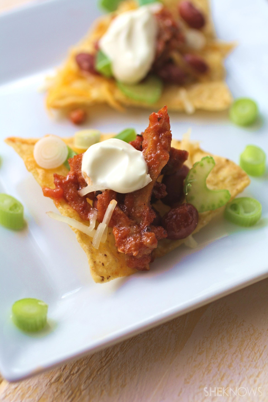 Cajun seitan nachos