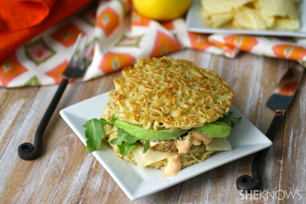 Meatless Monday: Veggie ramen burger with spicy mayo