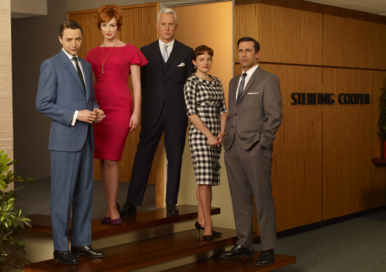 Dressed to the nine, the cast of Mad Men