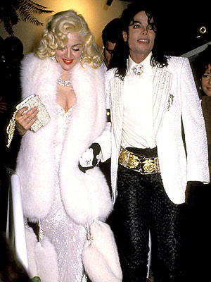 Madonna and Michael Jackson attend the Oscars