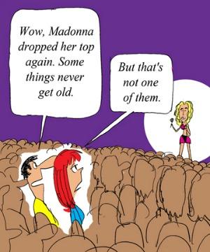 Madonna nip slip