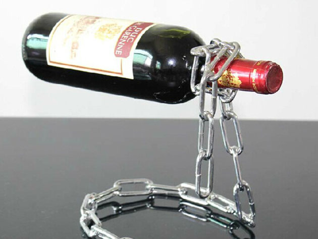 Magic Chain or Rope Wine Bottle Stand