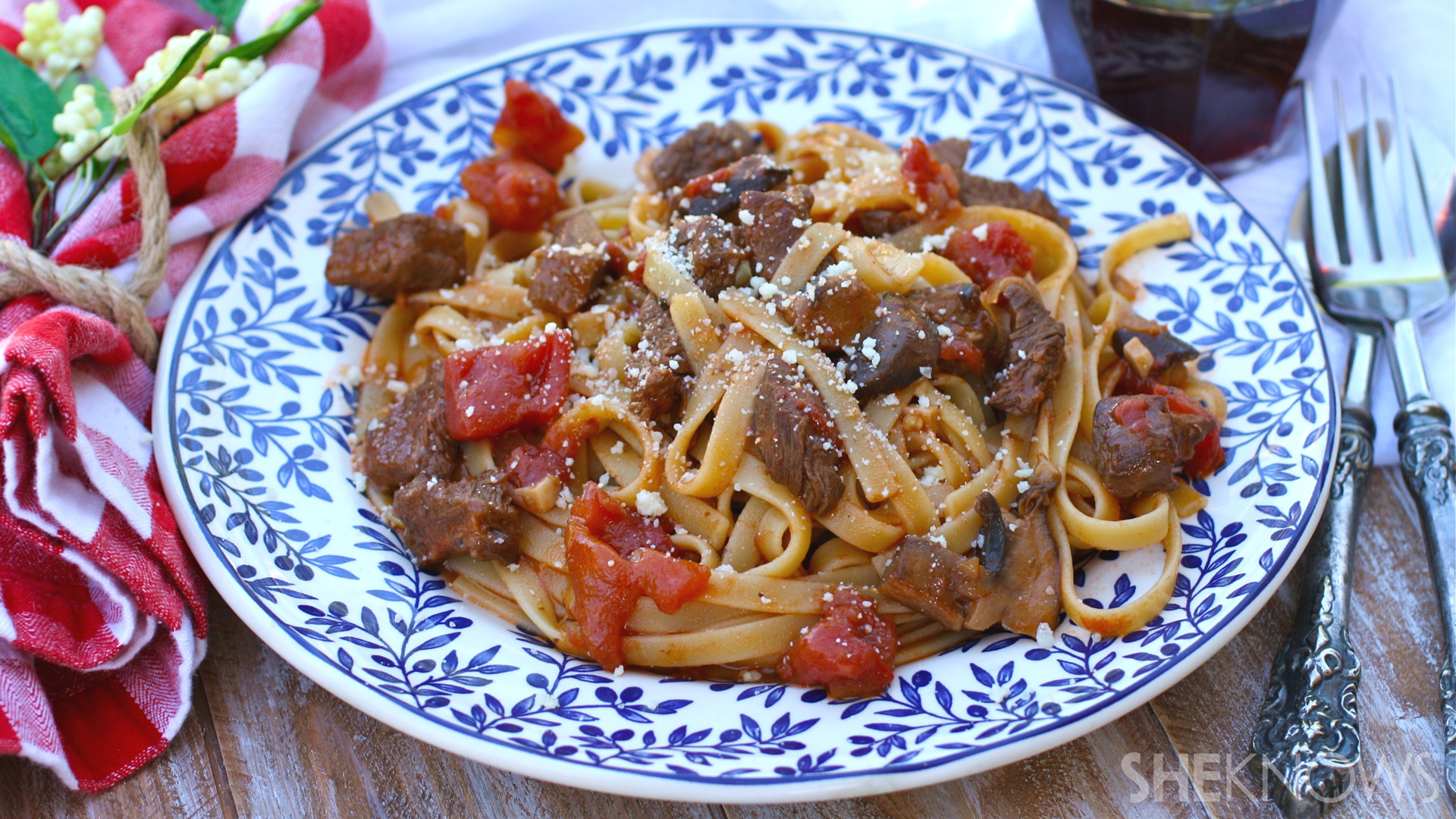 Hearty pasta with beef ragu