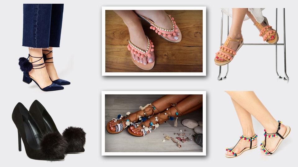 Make your feet pop (with pom poms!)