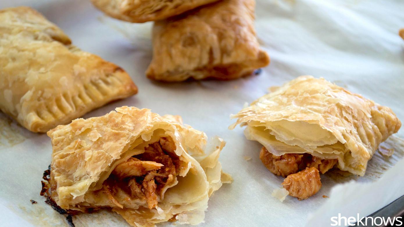mango bbq chicken hand pies