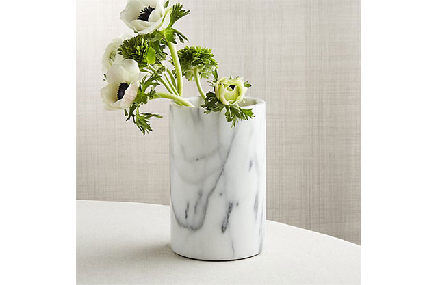 Marble wine cooler and vase