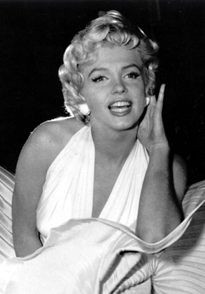 Marilyn Monroe standing above the subway grate in The Seven Year Itch 1955 WENN