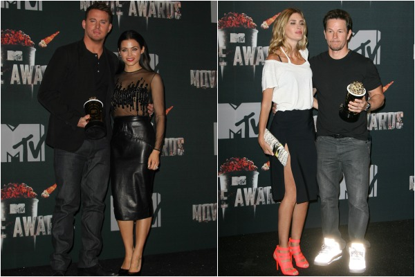 Mark Wahlberg and Channing Tatum at the MTV Movie Awards