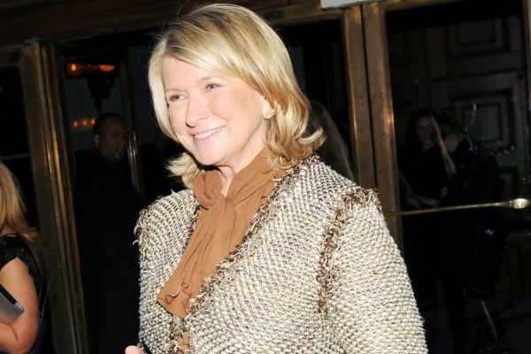 Martha Stewart at W Magazine party
