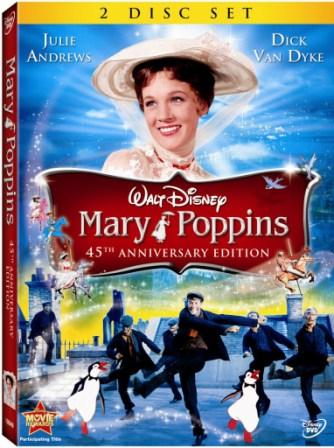 Mary Poppins arrives on DVD after 45 years