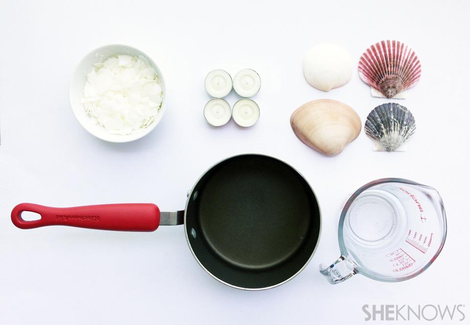 DIY seashell candles: Materials & tools
