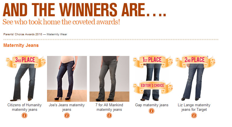PCA 2010 Maternity Wear Winners