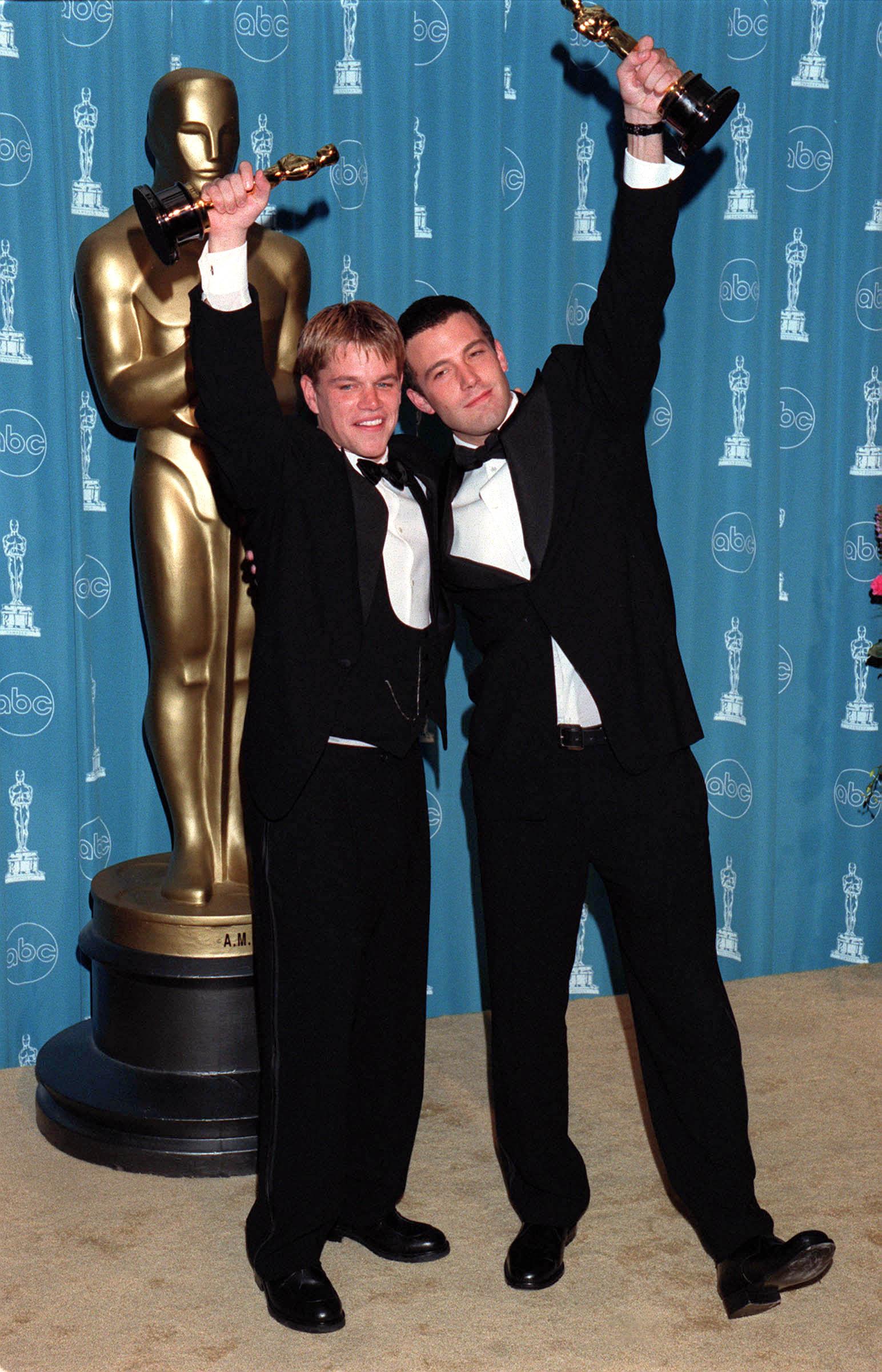 Matt Damon and Ben Affleck win for Best Original Screenplay