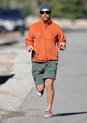 Matthew McConaughey jogs in Malibu...dressed?