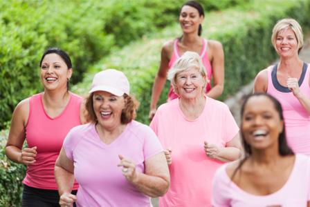 Mature women jogging
