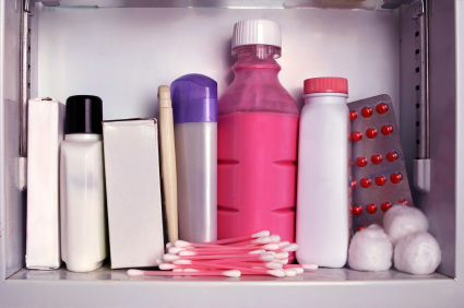 Crowded Medicine Cabinet