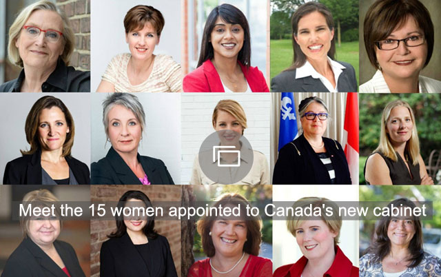 Meet the 15 women appointed to Canada's new cabinet