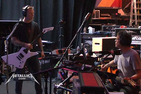 Metallica making an album with Lou Reed